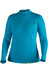 NRS W's HydroSkin 0.5 L/S Shirt Azure Blue